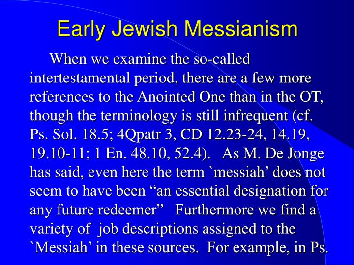 Early jewish messianism2