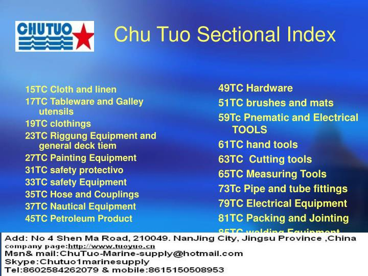 Chu tuo sectional index