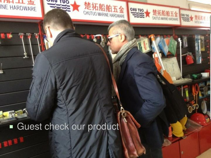Guest check our product