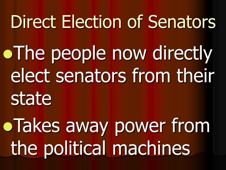 Direct Election of Senators