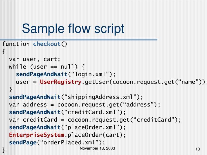 Sample flow script
