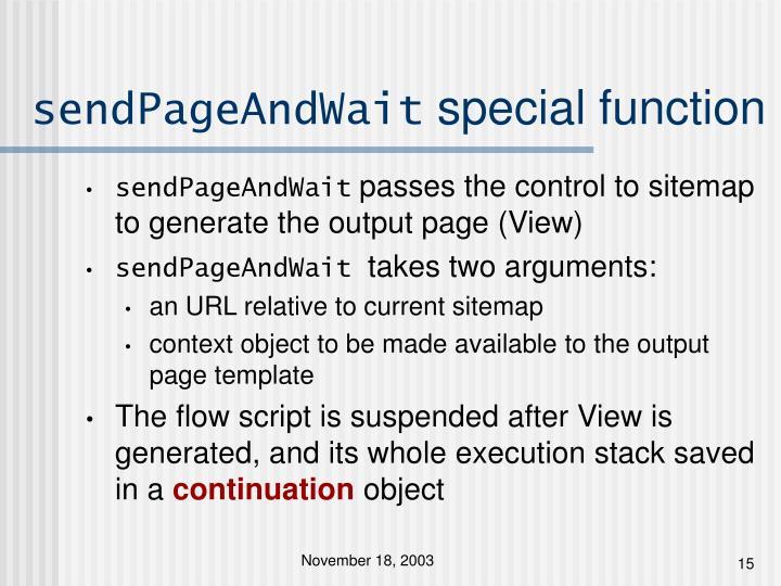 sendPageAndWait
