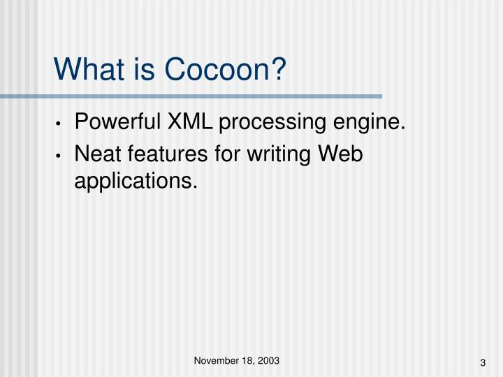 What is cocoon