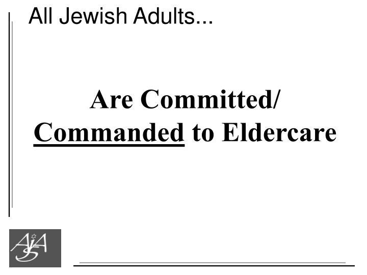 All Jewish Adults...