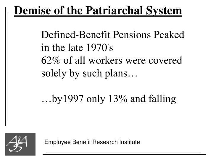 Demise of the Patriarchal System
