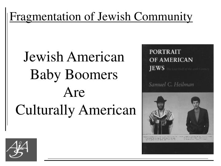 Fragmentation of Jewish Community