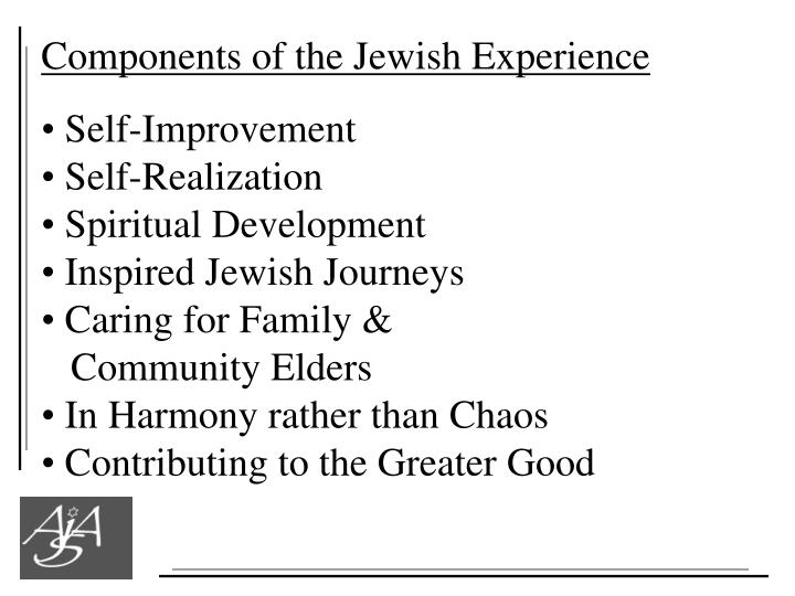 Components of the Jewish Experience