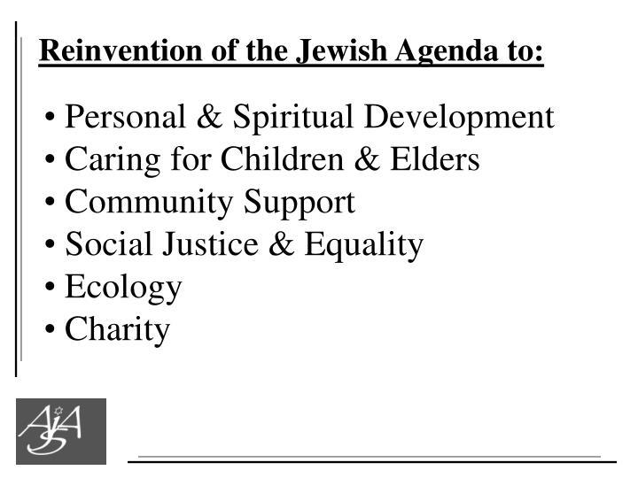 Reinvention of the Jewish Agenda to: