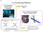 e scattering history