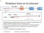 neutrinos from an accelerator