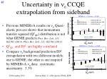 uncertainty in n e ccqe extrapolation from sideband