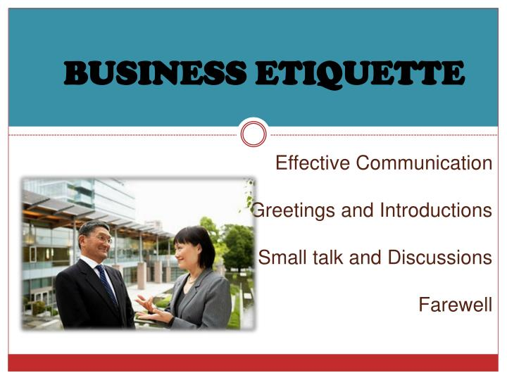 effective communication greetings and introductions small talk and discussions farewell n.