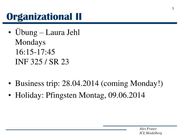 Organizational ii