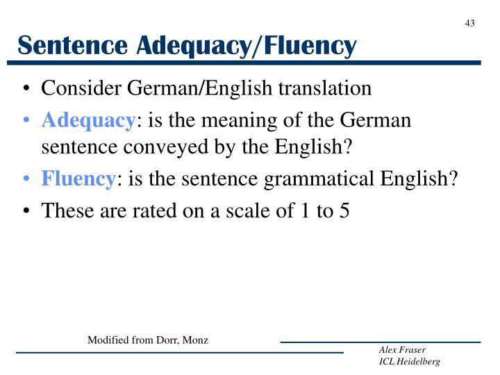 Sentence Adequacy/Fluency