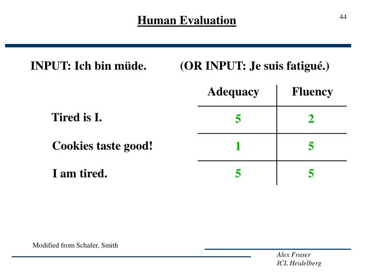 Human Evaluation