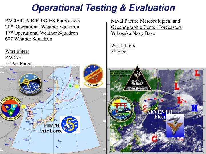 Operational Testing & Evaluation