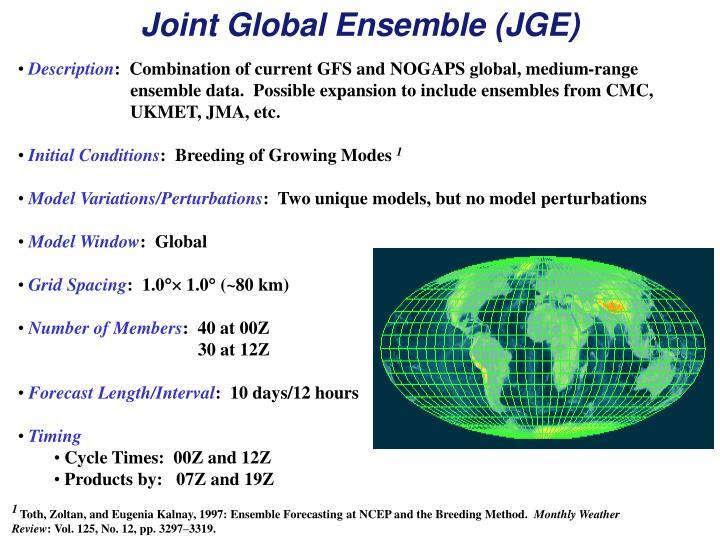 Joint Global Ensemble (JGE)