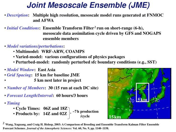 Joint Mesoscale Ensemble (JME)