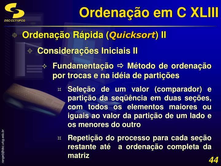 Ordenação em C XLIII