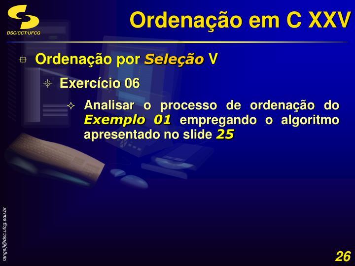 Ordenação em C XXV