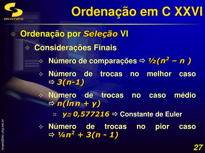 Ordenação em C XXVI