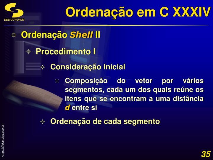 Ordenação em C XXXIV
