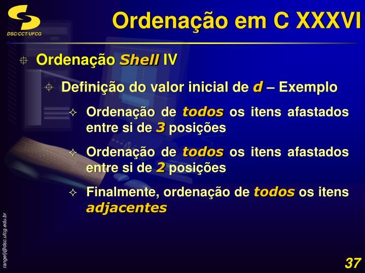 Ordenação em C XXXVI