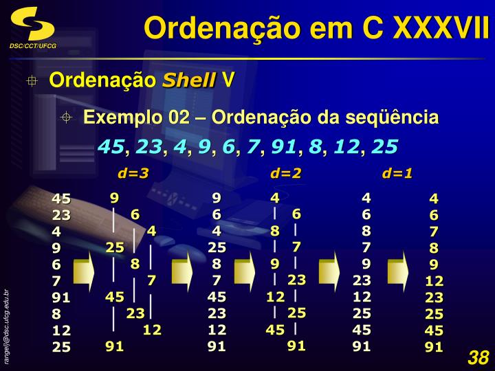 Ordenação em C XXXVII