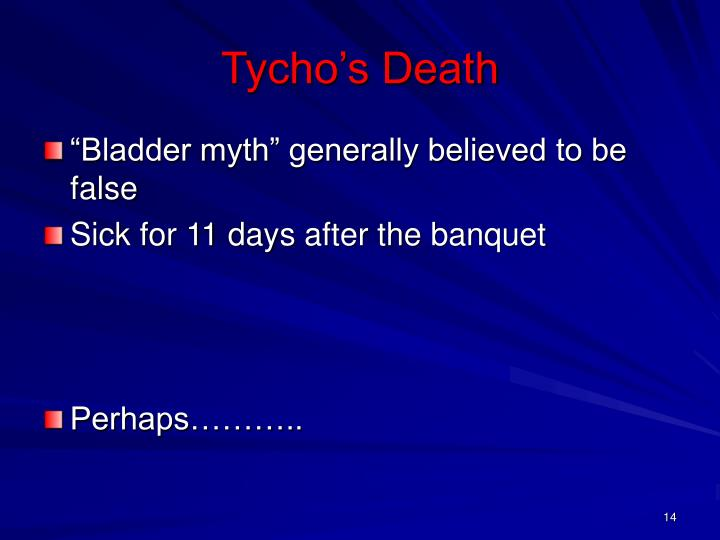 Tycho's Death