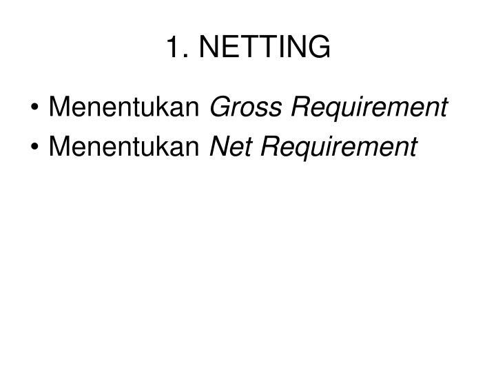 1. NETTING