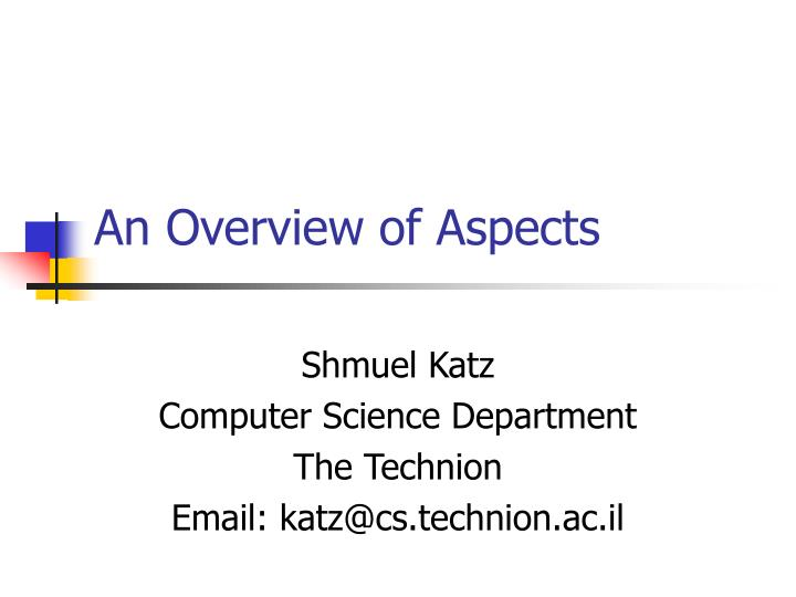an overview of aspects n.