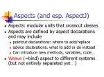 aspects and esp aspectj
