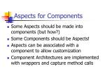 aspects for components