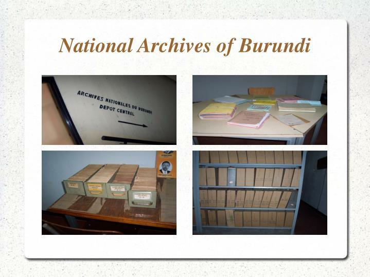 National Archives of Burundi