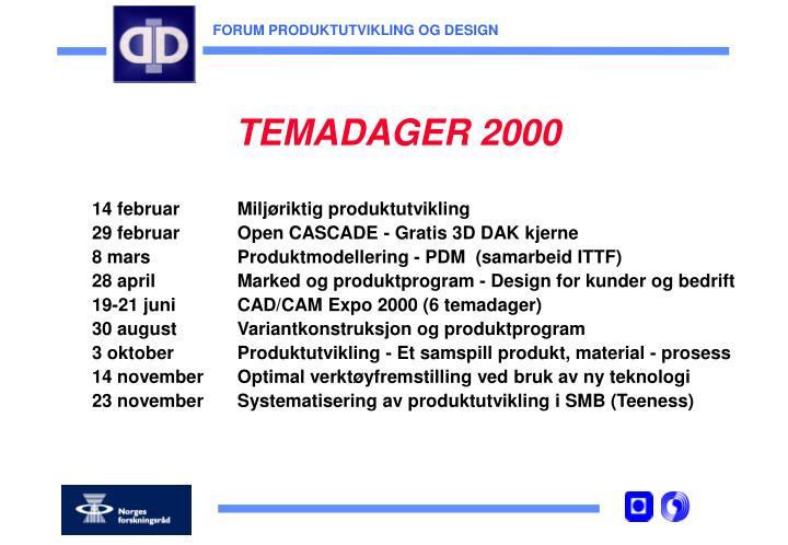 TEMADAGER 2000