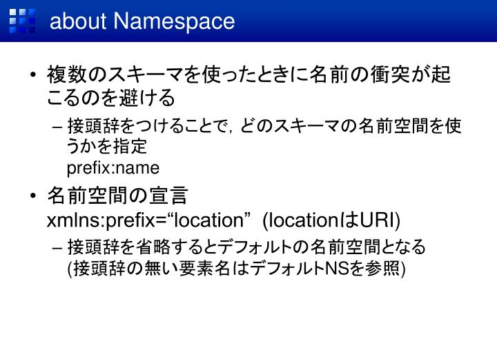 about Namespace