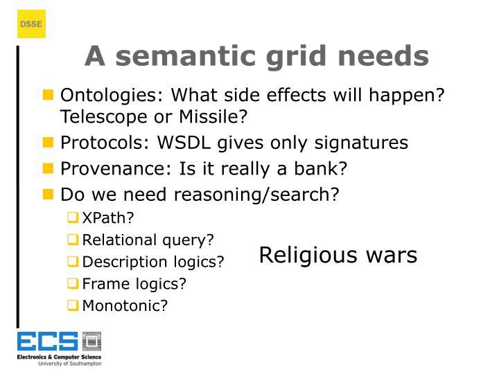 A semantic grid needs