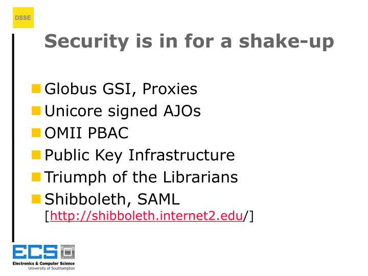 Security is in for a shake-up