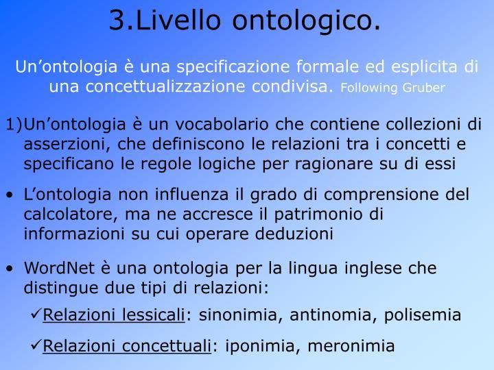Livello ontologico.