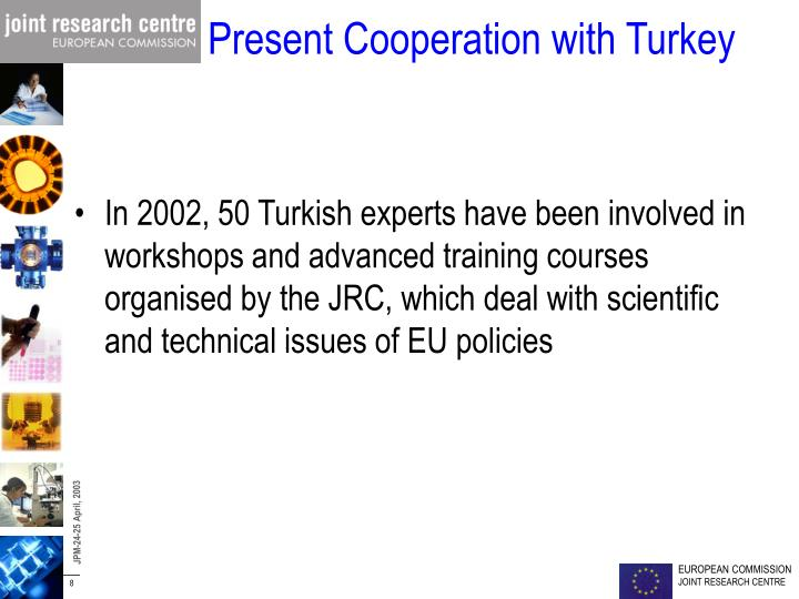 Present Cooperation with Turkey