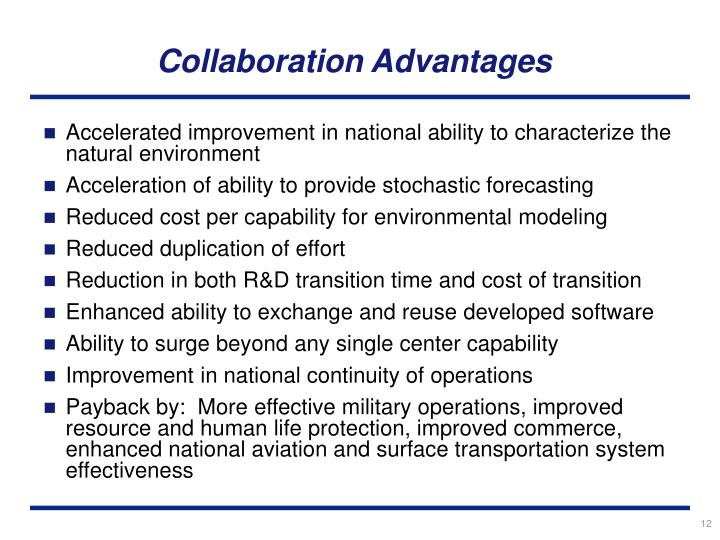 Collaboration Advantages