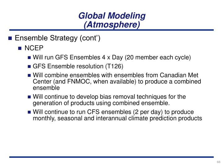 Global Modeling