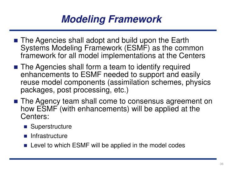 Modeling Framework