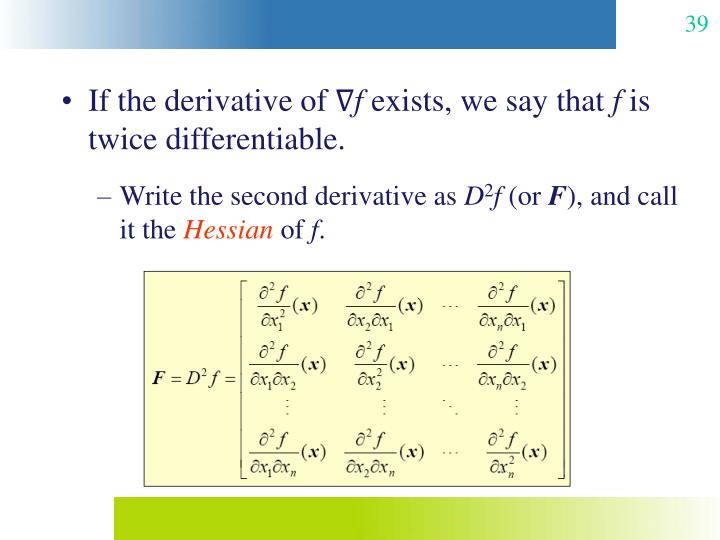 If the derivative of ∇