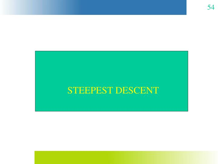 STEEPEST DESCENT