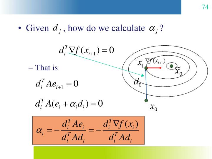 Given      , how do we calculate      ?
