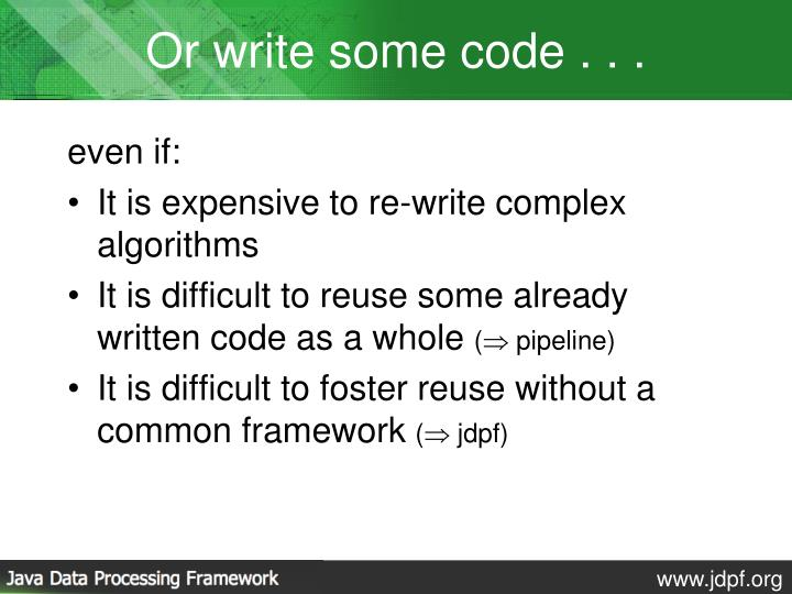 Or write some code . . .