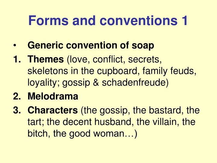Forms and conventions 1