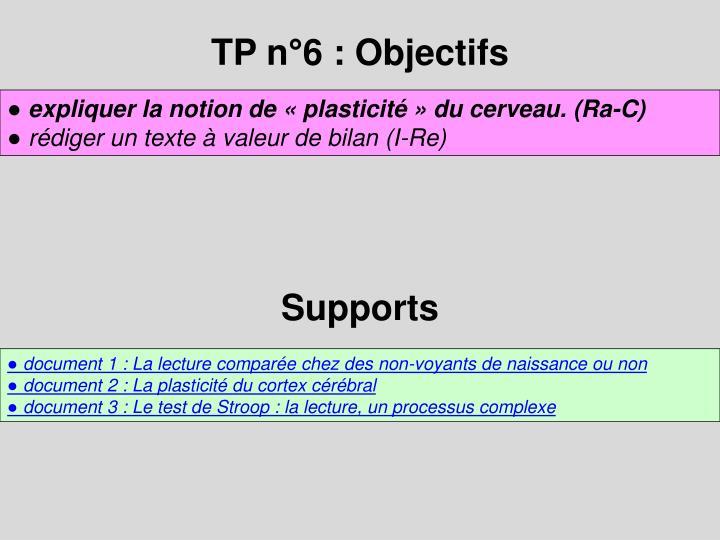 TP n°6 : Objectifs