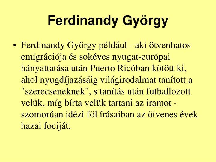 Ferdinandy György